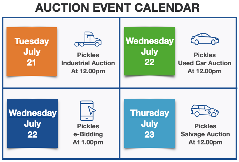 Pickles Auctions Calendar